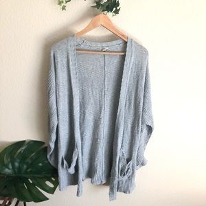 Ecote Anthro Gray Cardigan Size L
